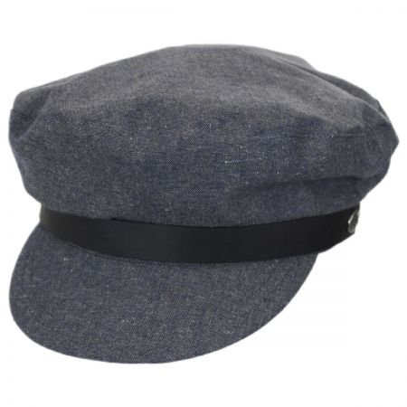 Brixton Hats Kurt Linen and Cotton Fiddler Cap