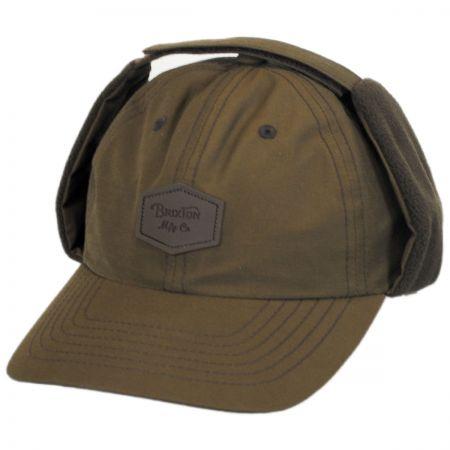 Brixton Hats Trig AT Cotton Earflap Strapback Baseball Cap