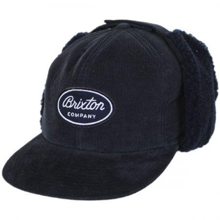 Brixton Hats Richfield Corduroy Earflap Snapback Baseball Cap