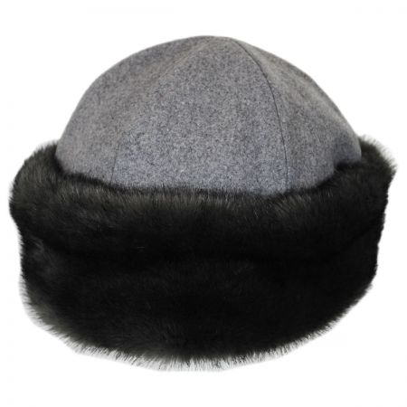 Brixton Elaina Wool and Faux Fur Cap
