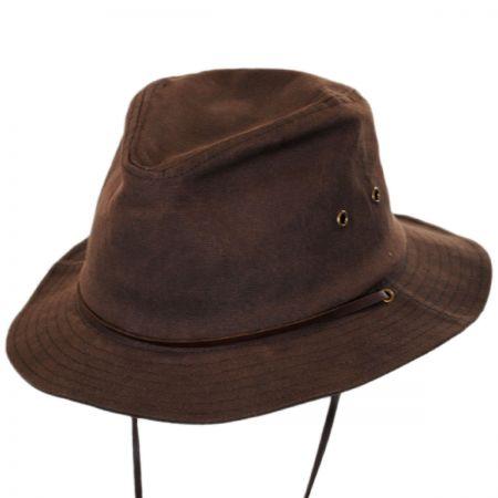 Brixton Penn Waxed Cotton Safari Fedora Hat