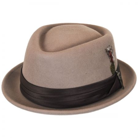 8393cda3288e3 ... new zealand shopping brixton hats stout wool felt diamond crown fedora  hat 5a84b 35ed6 a6454 24d86