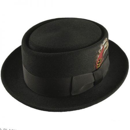 Bailey Jett Wool Felt Pork Pie Hat