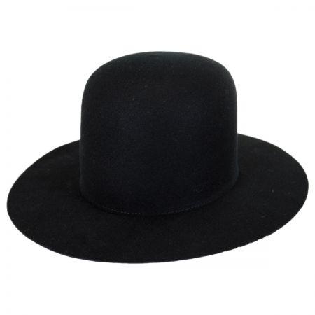 Laser Wool Felt Open Crown Fedora Hat alternate view 6