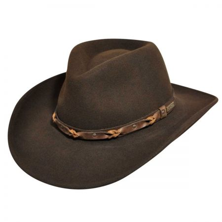 Palisade Crushable Wool LiteFelt Western Hat