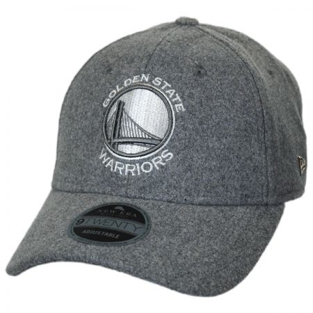 New Era Golden State Warriors NBA 'Cashmere' 9Twenty Strapback Baseball Cap Dad Hat