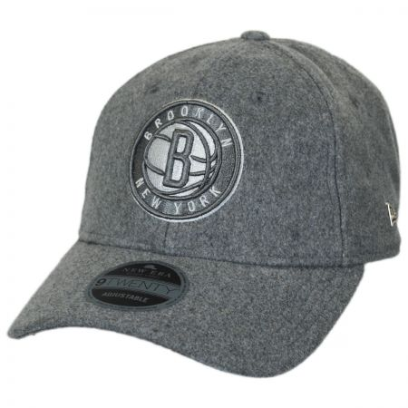 cfffbad4529 New Era Brooklyn Nets NBA  Cashmere  9Twenty Strapback Baseball Cap Dad Hat