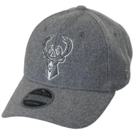 New Era Milwaukee Bucks NBA 'Cashmere' 9Twenty Strapback Baseball Cap
