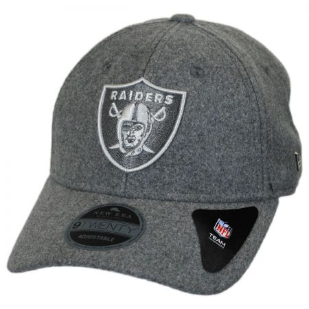 Oakland Raiders NFL 'Cashmere' 9Twenty Strapback Baseball Cap Dad Hat alternate view 1