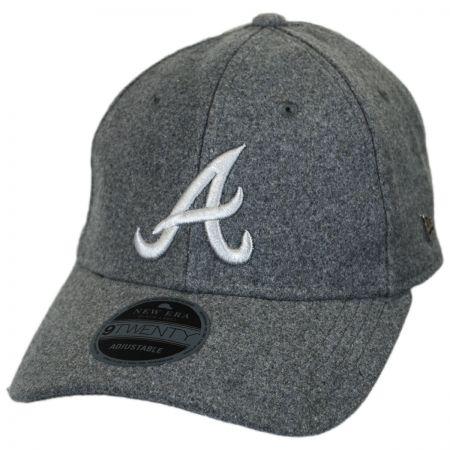 Atlanta Braves MLB 'Cashmere' 9Twenty Strapback Baseball Cap Dad Hat alternate view 1