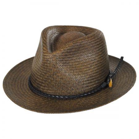 Collonade Panama Straw Fedora Hat alternate view 1