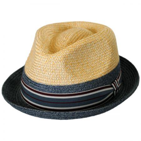 Bailey Rokit Toyo Straw Braid Trilby Fedora Hat