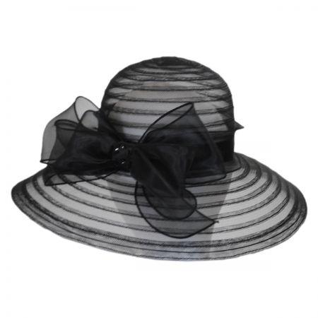 Betmar Valentina Mesh Ribbon Lampshade Hat