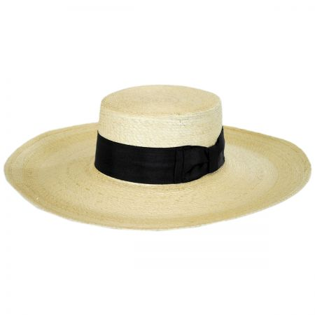 Sunny Mexican Palm Leaf Straw Boater Hat alternate view 5