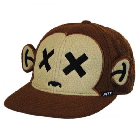 Monkey Furry Snapback Baseball Cap alternate view 1