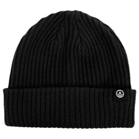 Fisherman Rib Knit Beanie Hat