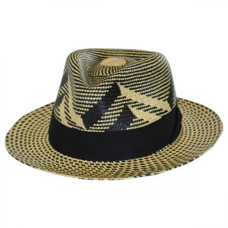 Bailey Wasser Two-Tone Panama Straw Fedora Hat