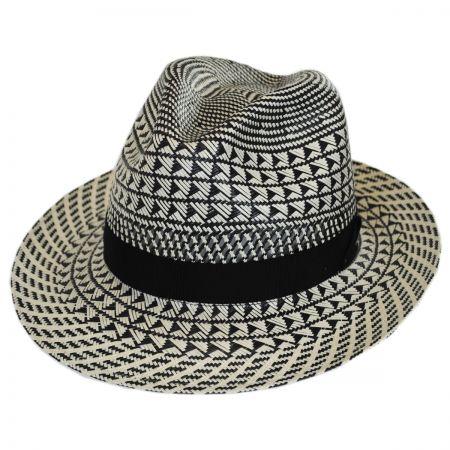 Arsun Two-Tone Straw Fedora Hat alternate view 9