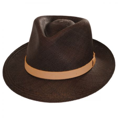 Gelhorn Panama Straw Tear Drop Fedora Hat alternate view 1