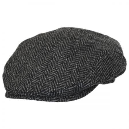 Herringbone Wool Earflap Ivy Cap