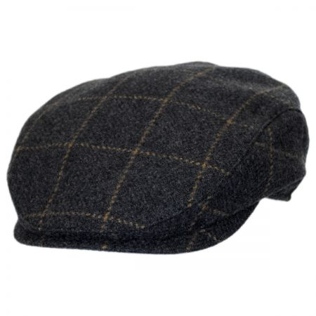 Wigens Caps Windowpane Cashmere and Wool Ivy Cap
