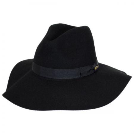 Joanne Wide Brim Wool Felt Fedora Hat