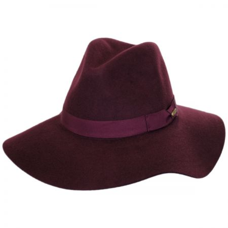 Joanne Wide Brim Wool Felt Fedora Hat alternate view 10