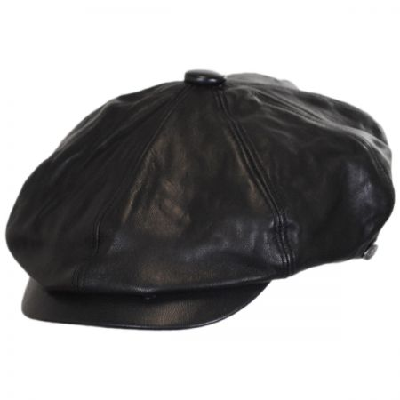 Leather Newsboy Cap at Village Hat Shop c8539208b16