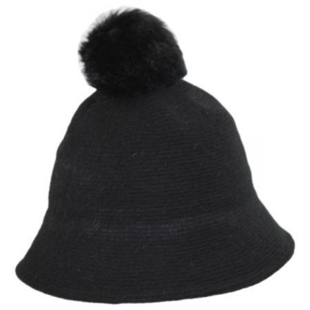 Pom Knit Wool Bucket Hat