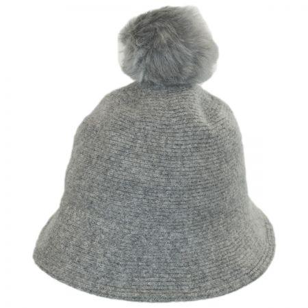 Something Special Pom Knit Wool Bucket Hat