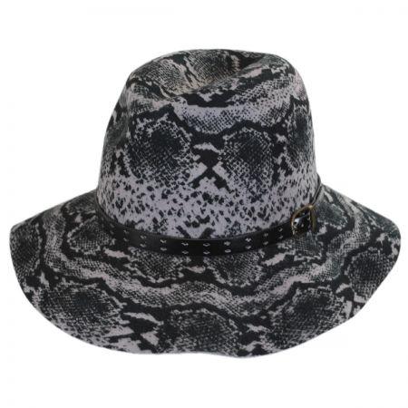 Python Wool Felt Fedora Hat alternate view 1