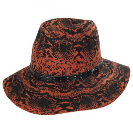 Python Wool Felt Fedora Hat alternate view 5
