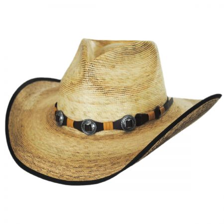 Stetson Kimball Palm Leaf Straw Western Hat