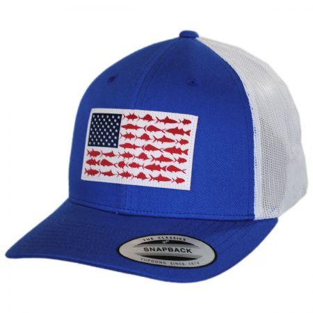 Columbia Sportswear PFG Fish Flag Mesh Snapback Baseball Cap