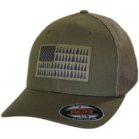 Tree Flag Mesh Flexfit Fitted Baseball Cap alternate view 17