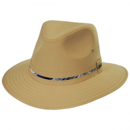 Stetson Madras Plaid Band Rain Safari Fedora Hat