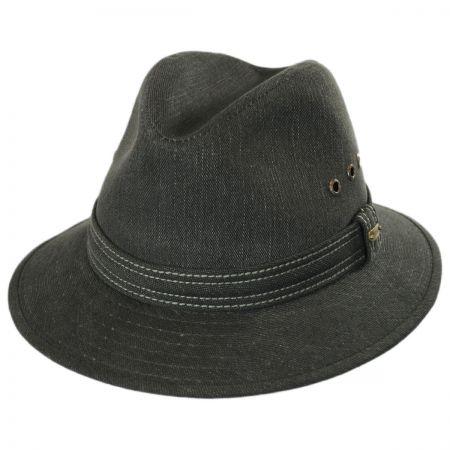 Cotton Canvas Safari Fedora Hat alternate view 1