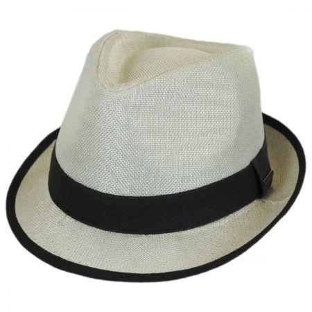 Two-Tone Burlap Trilby Fedora Hat alternate view 13