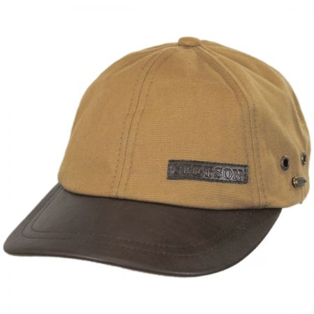 Stetson Canvas and Faux Leather Bill Strapback Baseball Cap