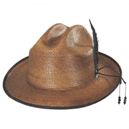 Carlos Santana Bhumi Palm Leaf Straw Cattleman Fedora Hat