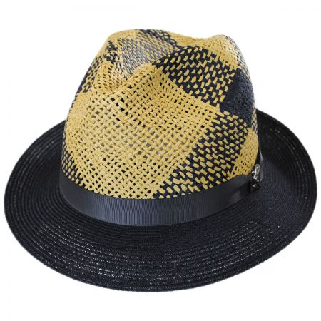 Carlos Santana Trishul Toyo and Hemp Straw Fedora Hat