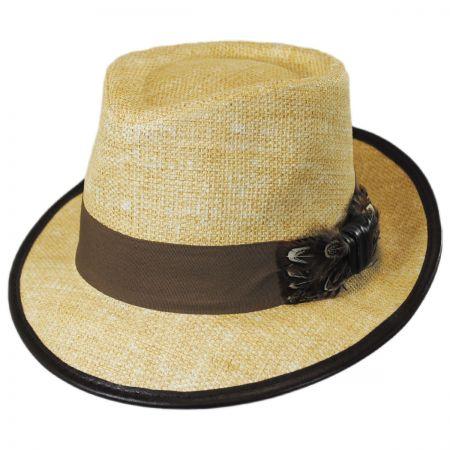 Pheasant Matte Toyo Straw Fedora Hat alternate view 1