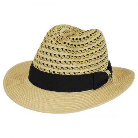 Tommy Bahama Two-Tone Vent Crown Toyo Straw Safari Fedora Hat