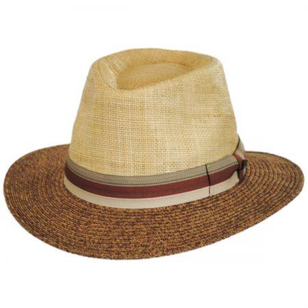 Tommy Bahama Two-Tone Straw Safari Fedora Hat