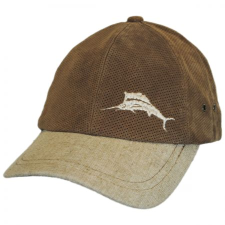 Perforated Suede Strapback Baseball Cap Dad Hat alternate view 1