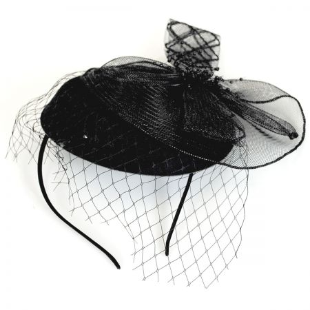 Netting Veil Felt Fascinator Headband alternate view 1