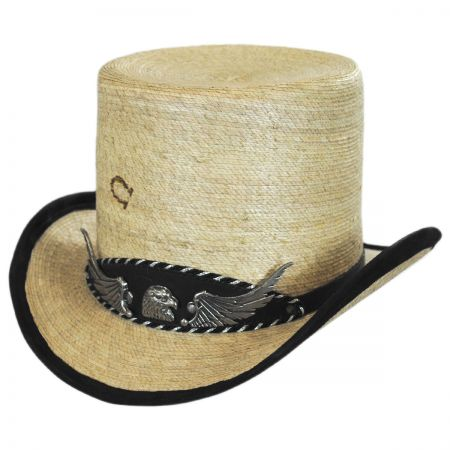 Charlie 1 Horse Rock Ridge Palm Leaf Straw Top Hat