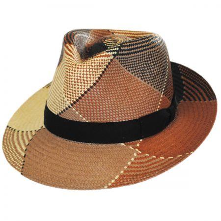 Giger Panama Straw Fedora Hat alternate view 6