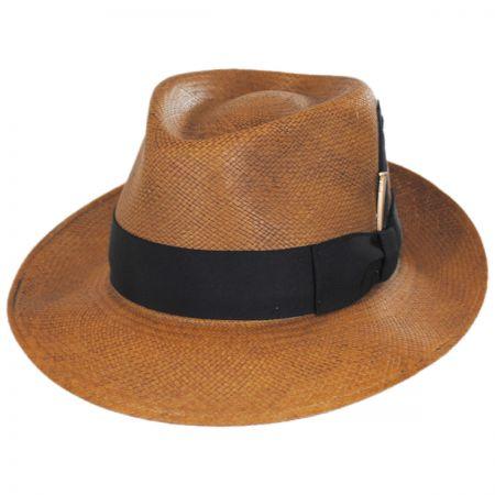 Bailey Tessier Panama Straw Fedora Hat