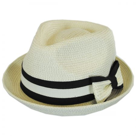 Joanne Toyo Straw Trilby Fedora Hat alternate view 5
